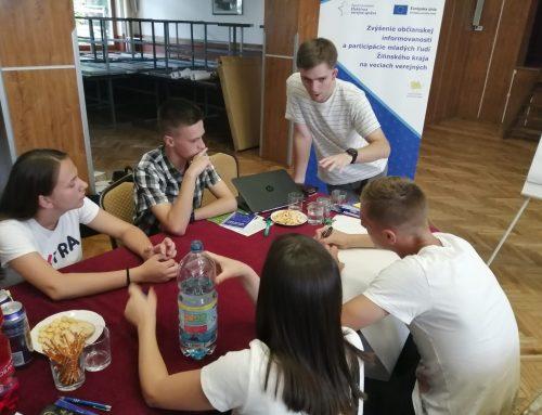 Stredoškoláci z Klina na projektovom stretnutí ukázali, že im záleží na zlepšení ich života v obci