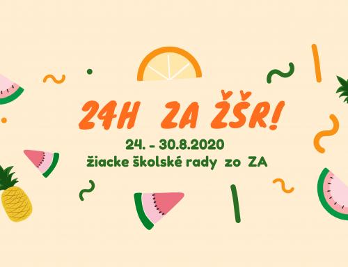 24 h ZA ŽŠR- pozvánka poď tvoriť