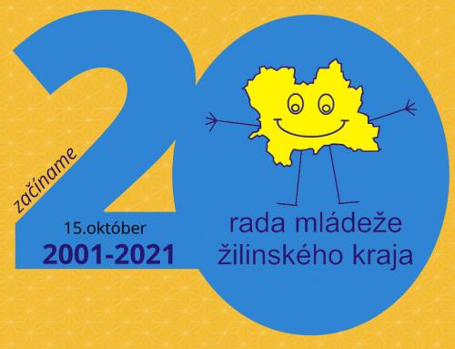Podeľte sa so svojou skúsenosťou s Radou mládeže Žilinského kraja k 20. výročiu